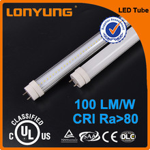Chinese manufacturer price led tube light T8 UL DLC listed 1200mm 18w