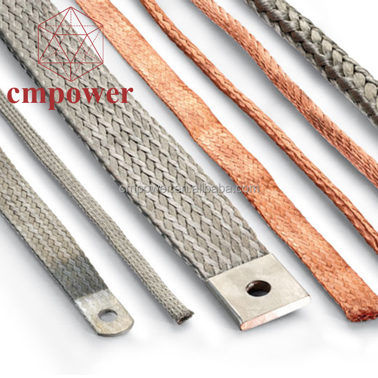 UL 13mm wide 1.3mm thick flat tinned copper braided <strong>wires</strong>