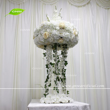 GNW CTR161024-001-A Wisteria Rose Hydrangea Flower Stand Tall Wedding Table Decorations