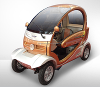 Fashional 4 wheels 3 seats electric car for passenger