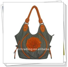 lady's fashion handbags with flowers