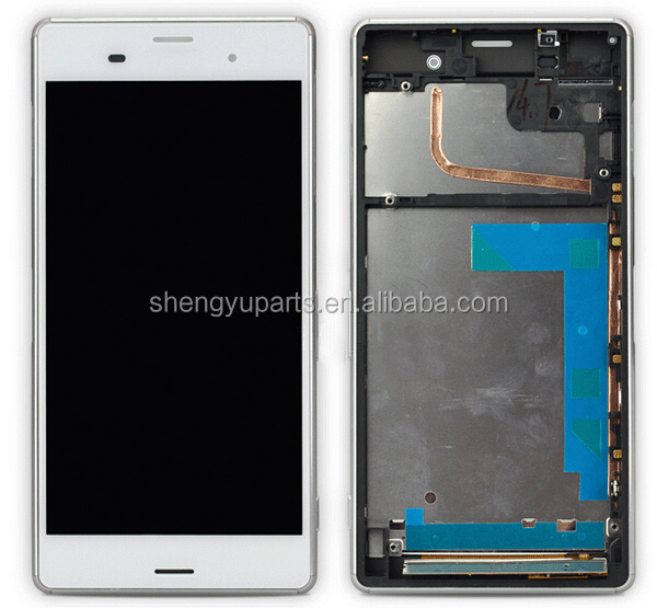 LCD replacement for Sony Xperia Z3 mini D5803 D5833 Display Touch With Frame,for sony xperia z3 compact assembly