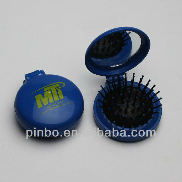 foldable pocket comb mirror