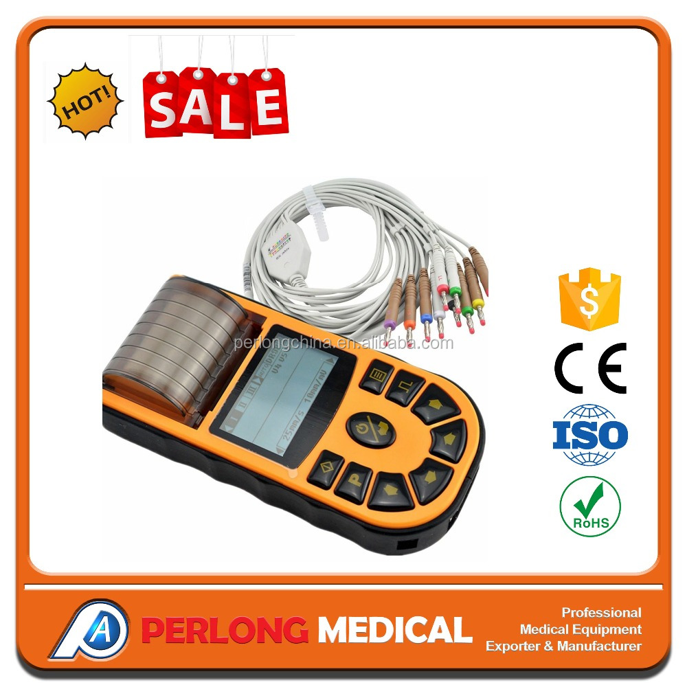 1 Channel Hand-Held Spare Parts ECG/EKG Machine ECG80A hospital equipment