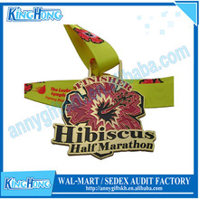 Cheap custom soft enamel custom finisher arts and crafts medals no minimum order