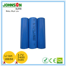 3.7v 2600 mAh Li-Ion 18650 Battery with PCB protection and button top