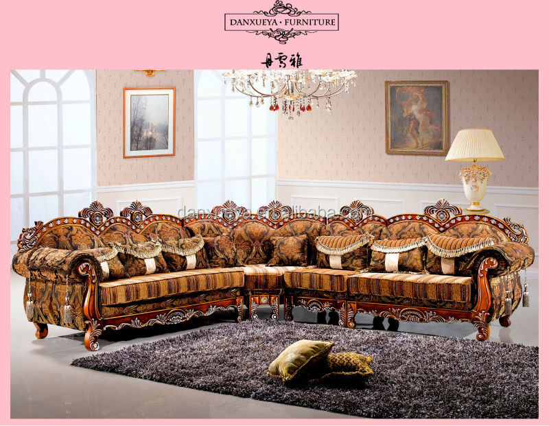 Danxueya New Baroque Style Furniture With Carving Corner Sofa Design