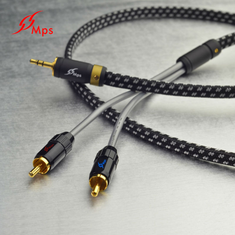 MPS X-7 Leopard 3.5mm Stereo to 2 RCA Connector AV Video Game Cable
