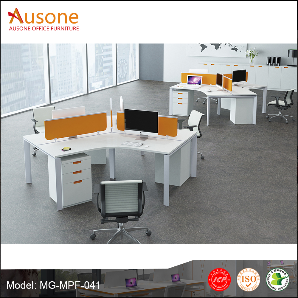 trend style staff workstation employee table 3 seats work station