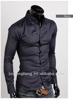 2012 New Mens Casual Slim fit Dress Shirt 4 size 3 Colors FF0760