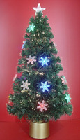 Christmas Indoor Decorative Fiber Optic Light up Tree with LED Ornaments
