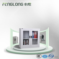Cheap office equipment glass door display cabinet steel storage lockable cabinet manufacture direct
