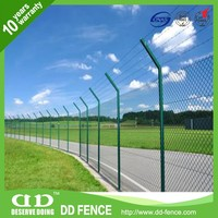 Plastic pvc coated chain link perimeter fence designs