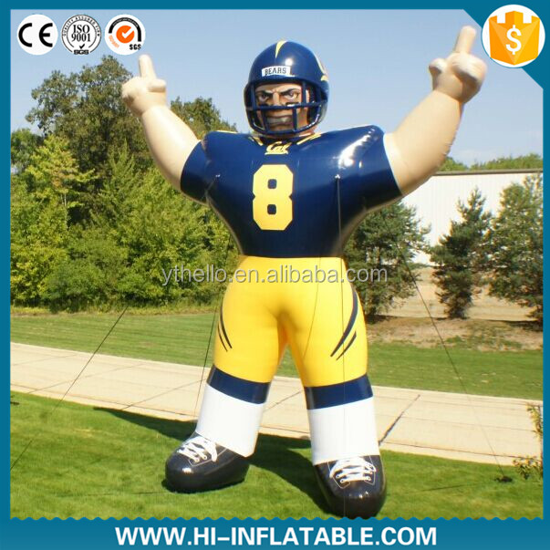 2015 hot sale giant inflatable baseball player for advertising / inflatable figure cartoon