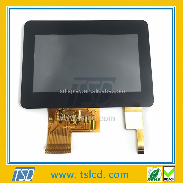 TS display 4.3 inch tft lcd 480x272 flexible lcd screen capacitive touch with AG/AR/AF coating