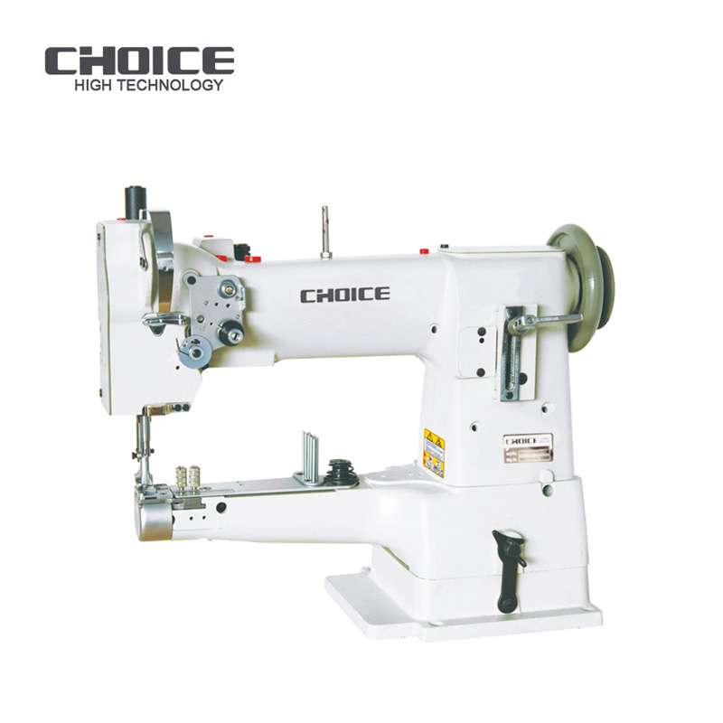 Golden Choice GC335 Single Needle Cylinder arm tape binding Leather Bag Lockstitch Industrial Sewing Machine