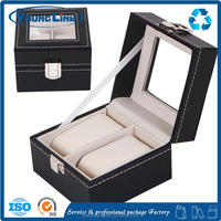 High Quality new design unfinish gloss black lacquer wooden watch jewelry box wood tea box chocolate box