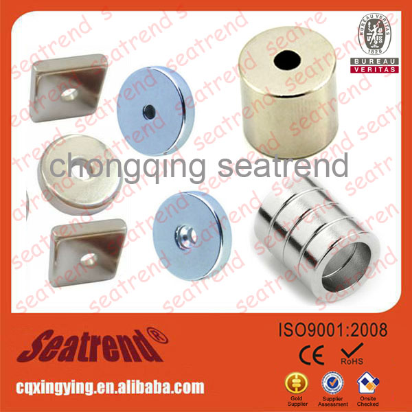 Gold supplier super industrial strong rubber coated magnets