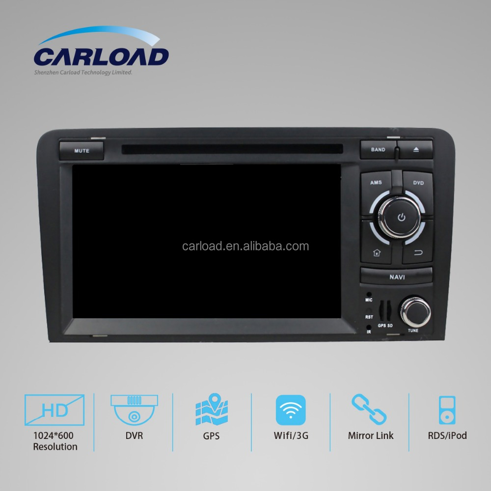HD 1024 x 600 Android 5.1 Quad Core Car DVD Player GPS Navigation for Audi A3