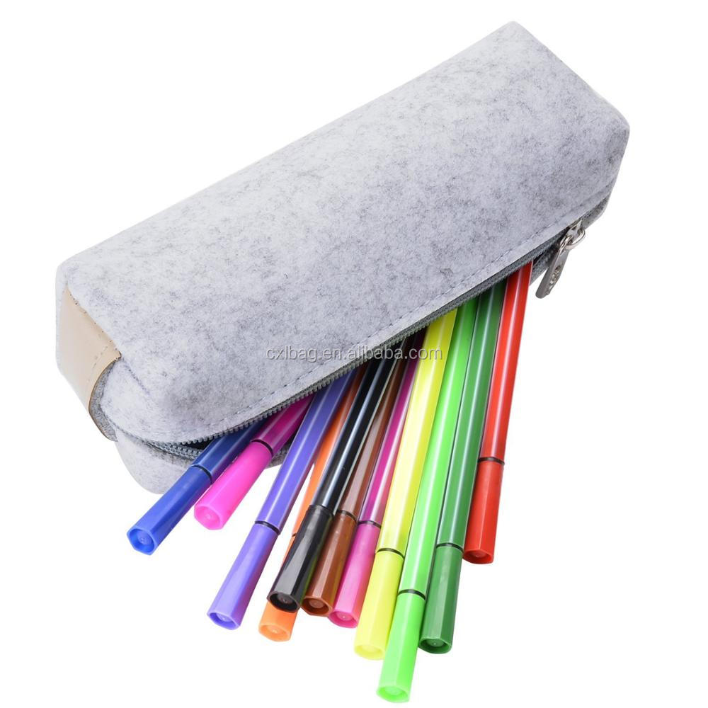 Wholesale Customized logo Felt Pen Pouch Pencil Case Stationery Pouch Bag Case Cosmetic Bags