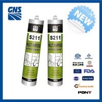 Plastic anti-fungus & resistant to mildew polyurethane silicone sealant with great price