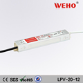 best price 20w lpv-20 12v 1.67a led driver waterproof power supply
