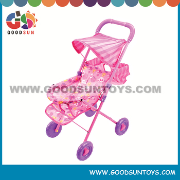 Newest design of baby stroller for doll with new fabric