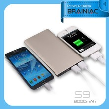 Brainiac power bank 8000mah mobile phone mi powerbank/8000mah power bank for Xiaomi