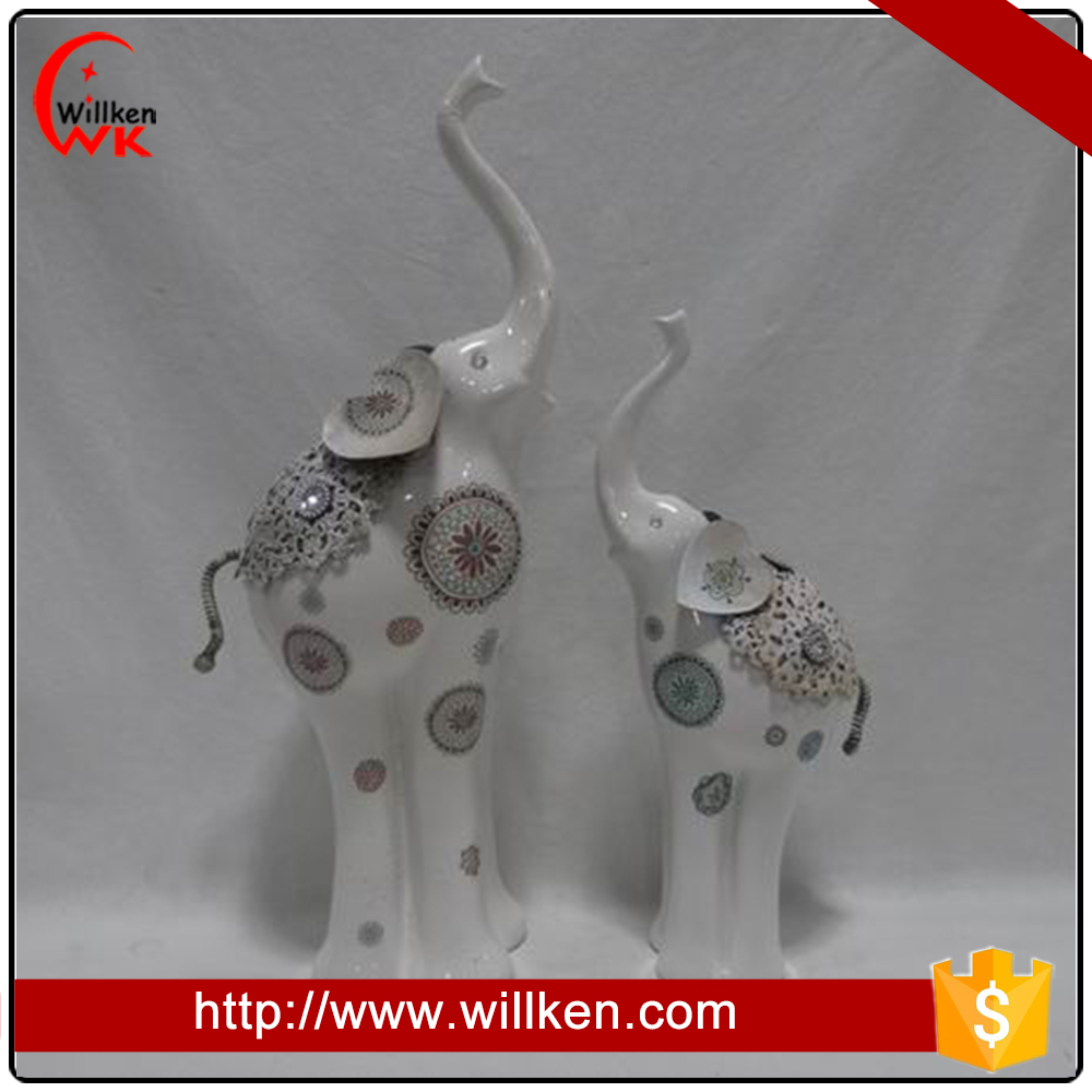 Home table decoration modern porcelain elephant