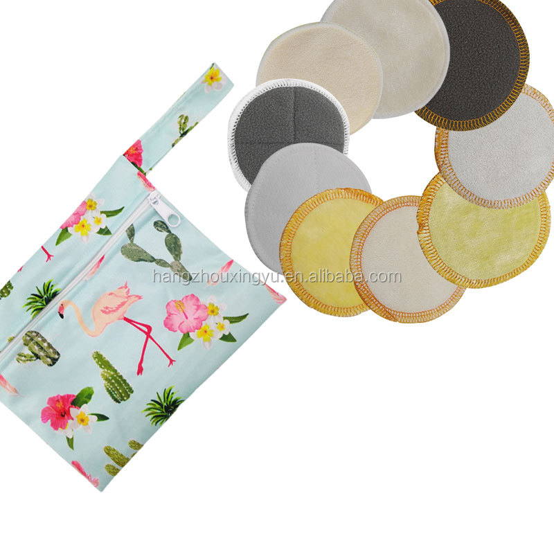 Washable Bamboo Cotton Makeup <strong>Remover</strong> Cloth Facial Cleansing Rounds Pads Reusable Makeup <strong>Removers</strong>