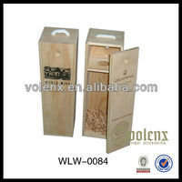 Slide Lid Gift Wooden Wine Box