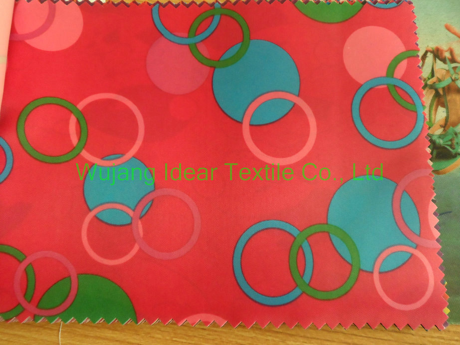 210T Printed Polyester Taffeta Fabric for pinafore in stock