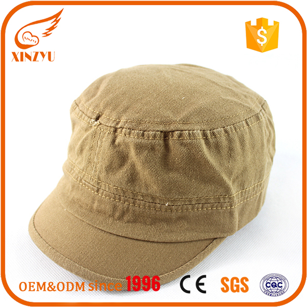 Custom military army caps hats 100% cotton khaki fitted military army caps