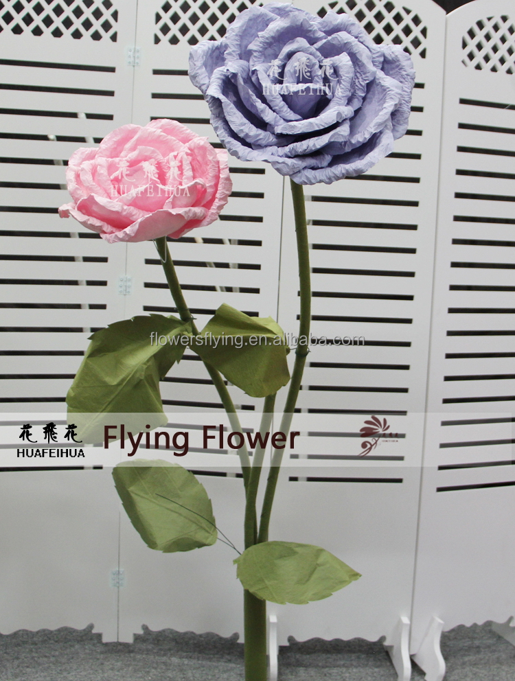 Practical super quality top level big artificial rose flowers