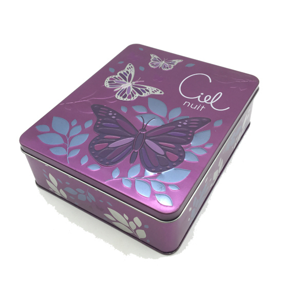 Embossing Tin Can Metal Tin Box for Perfume Packaging
