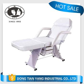Fold Portable Massage Bed Facial SPA Beauty Bed Tattoo with drawer White
