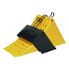 Large yellow plastic wheel chock for 12 to 30tons truck