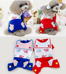 Dog 2015 Pet Fashion Whale Print Onesies Dog Apparel Wholesale Dog Clothes Pet Products