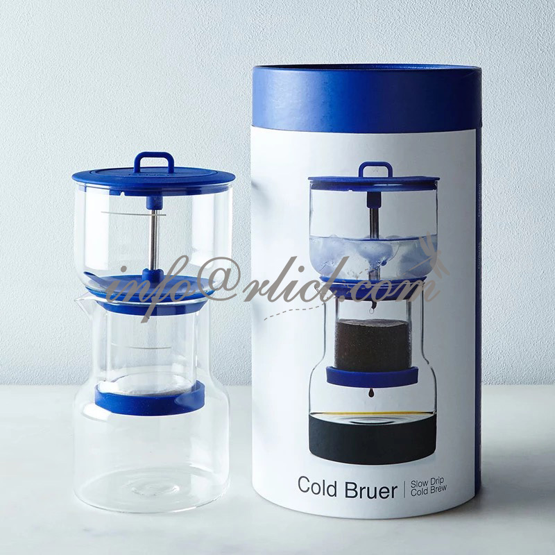 Slow Drip Iced Cold Brew Coffee Maker Portable 2-3 cups dripper Iced glass Cold Espresso Brewer Dripper