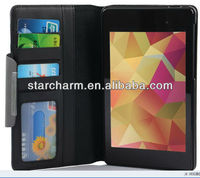 Wallet Leather Case Cover for Google Nexus 7 2 II 2nd 2013