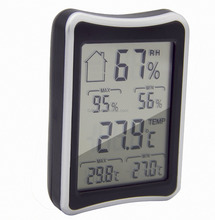 Large temperature humidity display room thermometer