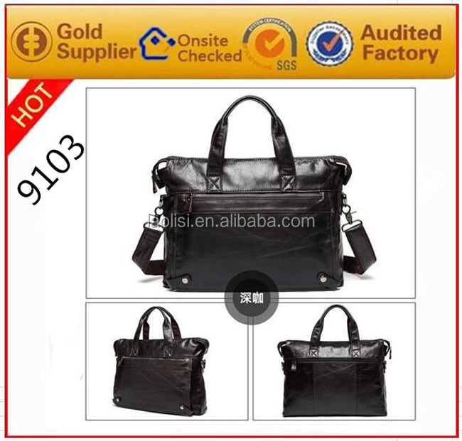 New design environmental italian real leather casaul trendy fashion classic retro vintage men sling shoulderbags