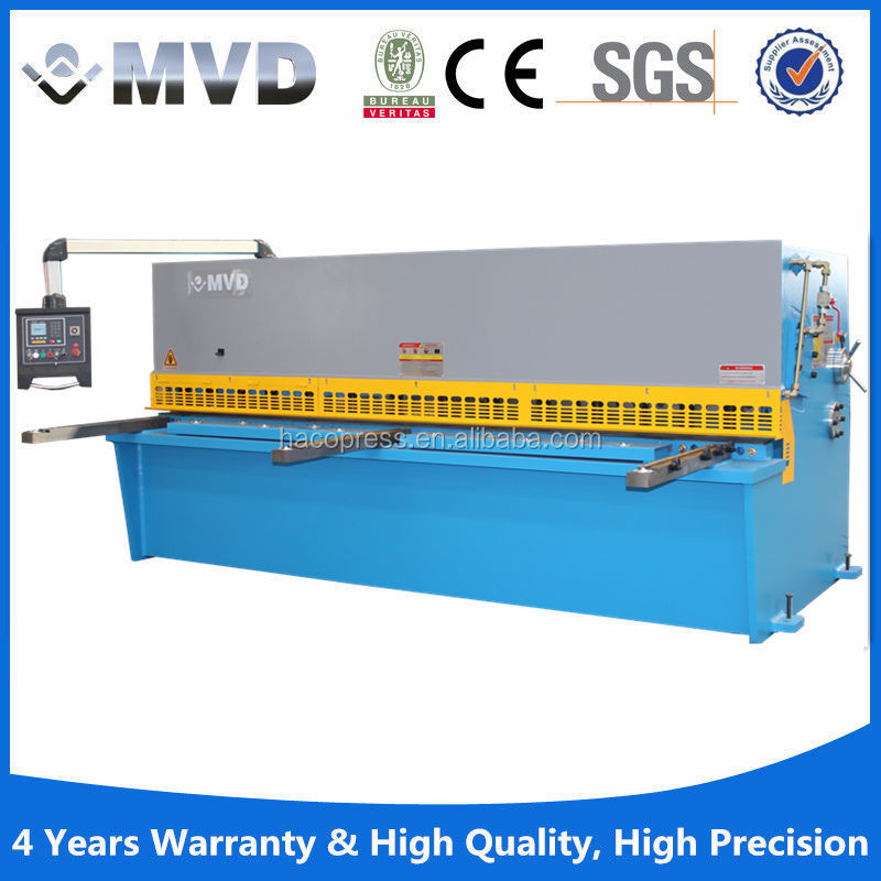 Aluminum shearing machine and swing beam QC12K Series CNC Hydraulic Swing Plate Shears 12*3200