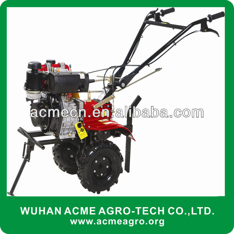 diesel engine mini tiller with rotary blades of farm machinery