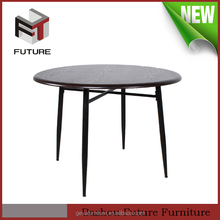 European style cheap wood modern round dinner table