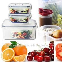 Supply fashion plastic microwave oven three-piece crisper/food torage box
