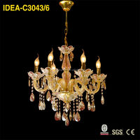 decorative resin antler modern crystal pendant lighting