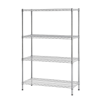 Chrome multi-purpose 4-tier wire shelving