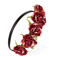 Fashion indian wedding bridal rose flower headbands flower hair accessories