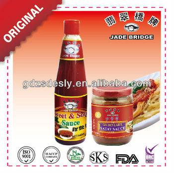 Chinese hot sell Satay sauce and Sweet &Sour